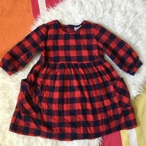 Hanna Plaid Red Dress 120